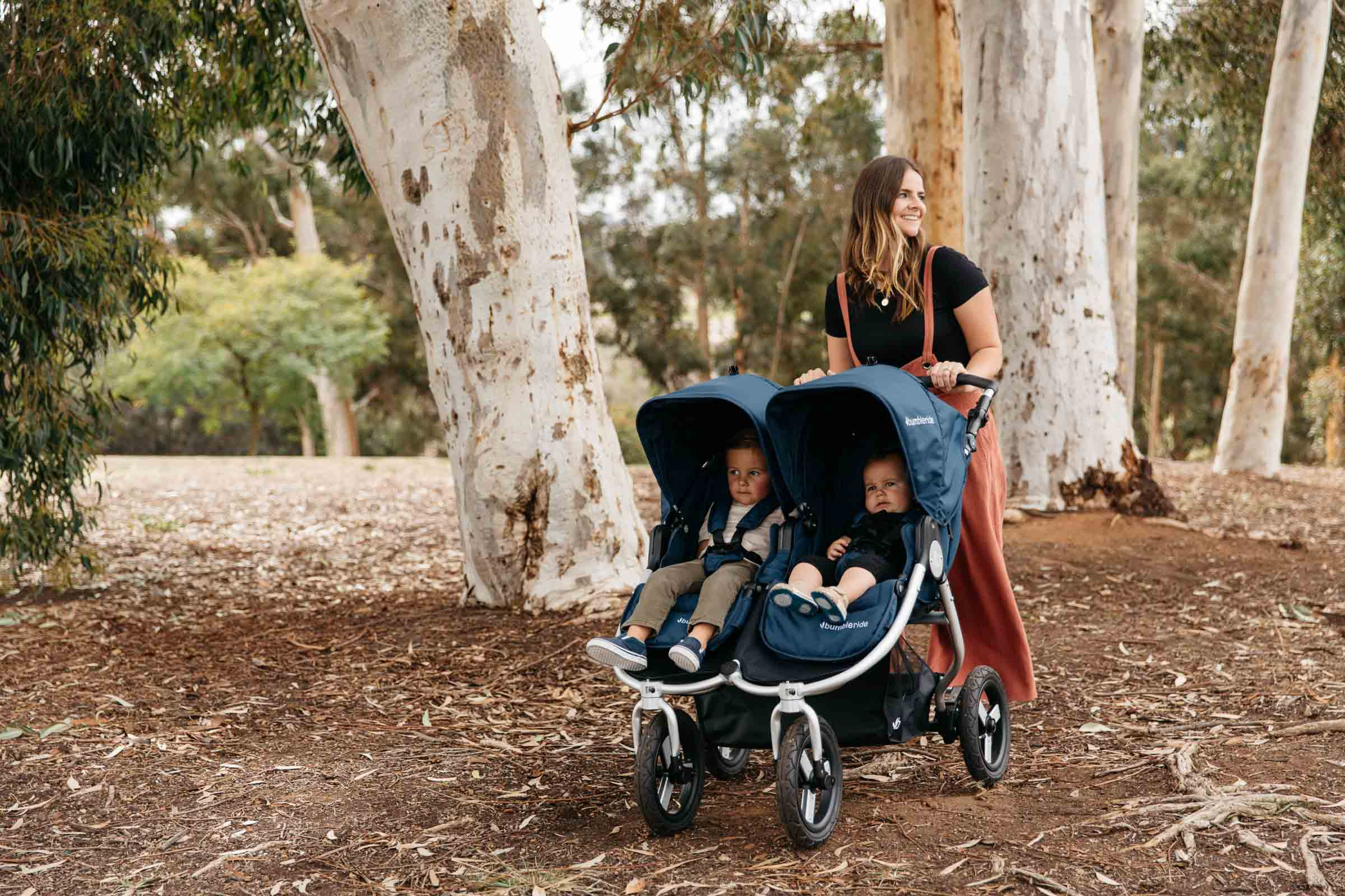 Bumbleride Our Story Designed For Adventure- Indie Twin Double Stroller