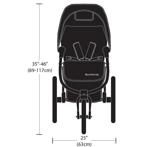 2019 Bumbleride Speed Dimensions - Front View