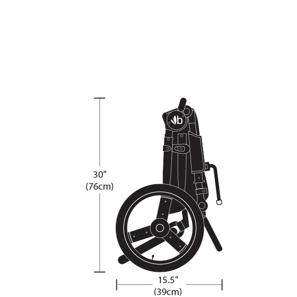 2020 Bumbleride Speed Dimensions - Side Folded View