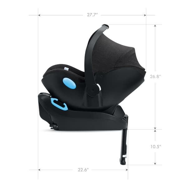 2020 Clek Liing Infant Seat Dimensions - Profile View Angle