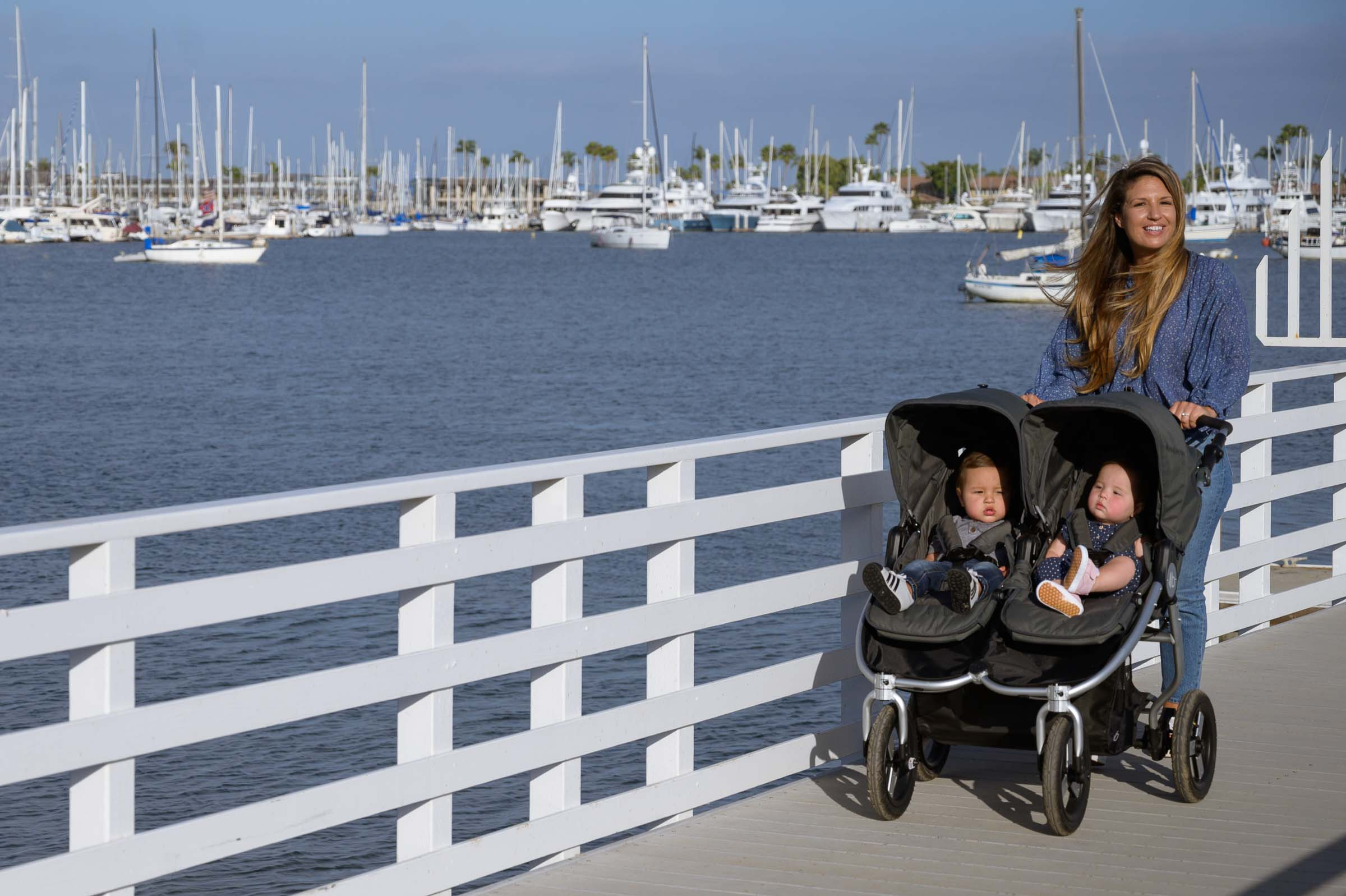 2020 Bumbleride Indie Twin stroller on pier