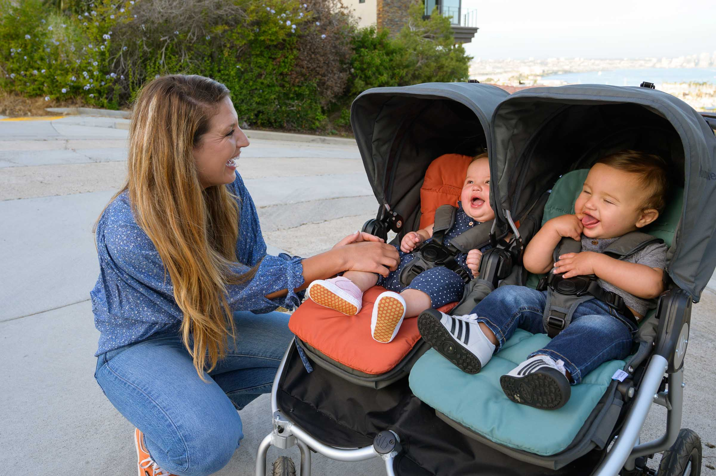 2020 Bumbleride Indie Twin stroller with Seat Liners with Twins