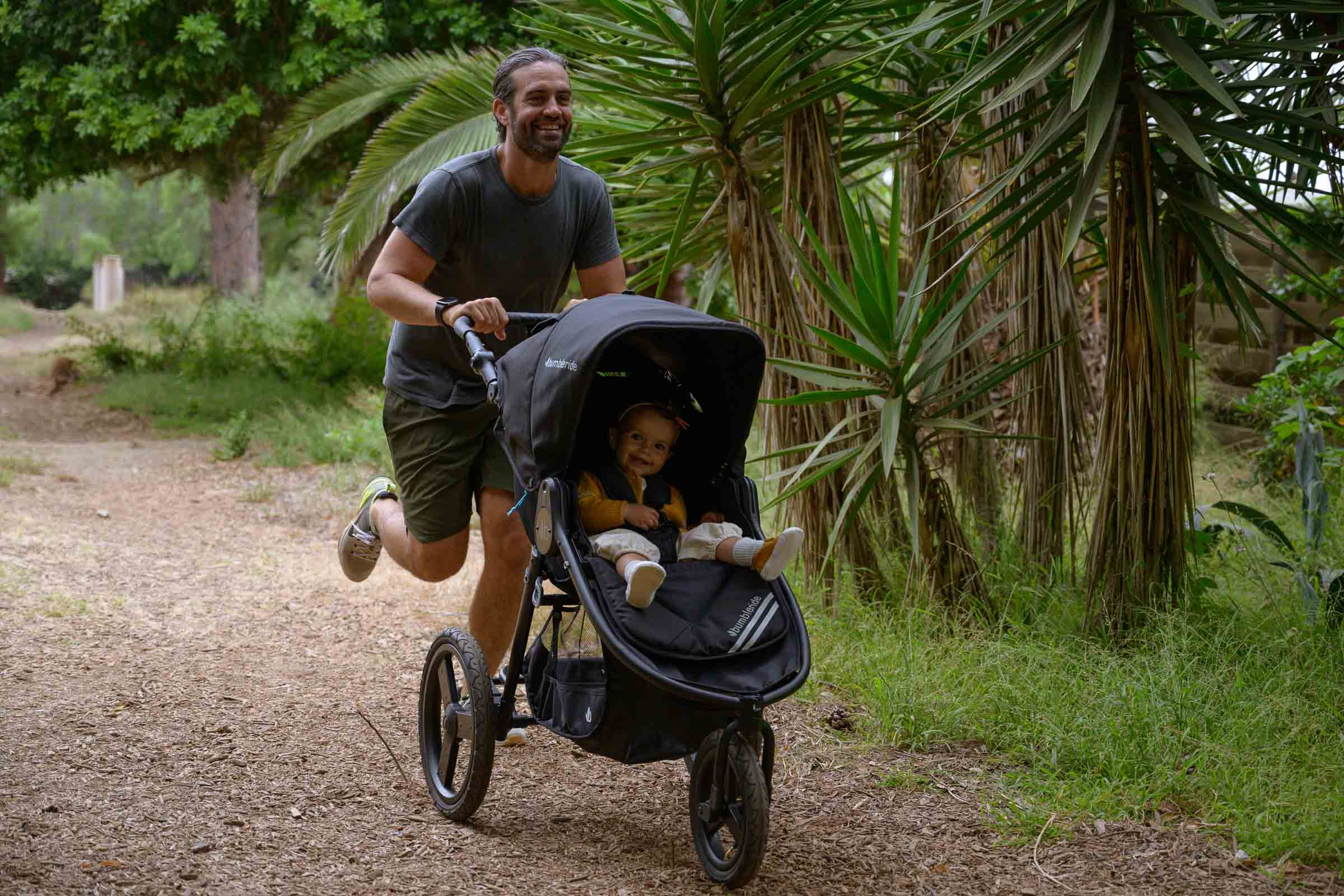 2020 Bumbleride Speed Jogging Stroller On Dirt Trail 2 of 3