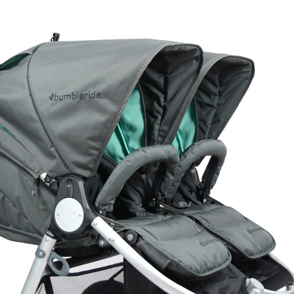 Bumbleride Indie Twin upf 45 adjustable sun canopy