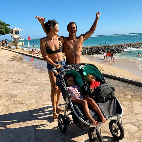 Kahi Paccaro with Bumbleride Indie Twin in Hawaii