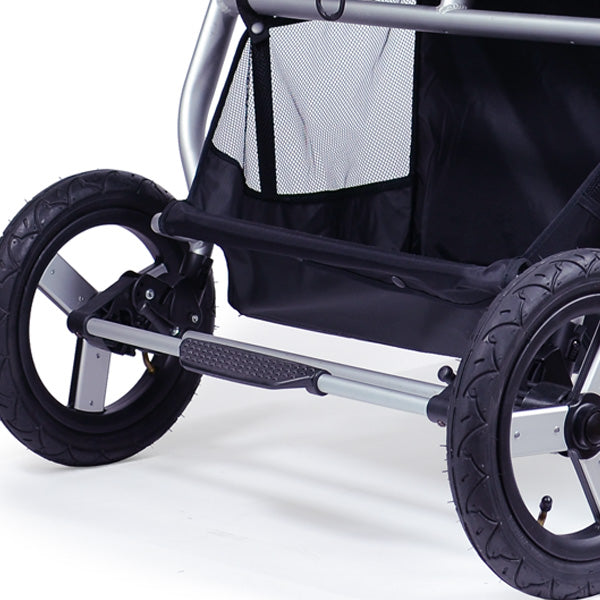 double stroller foot brake bumbleride indie twin
