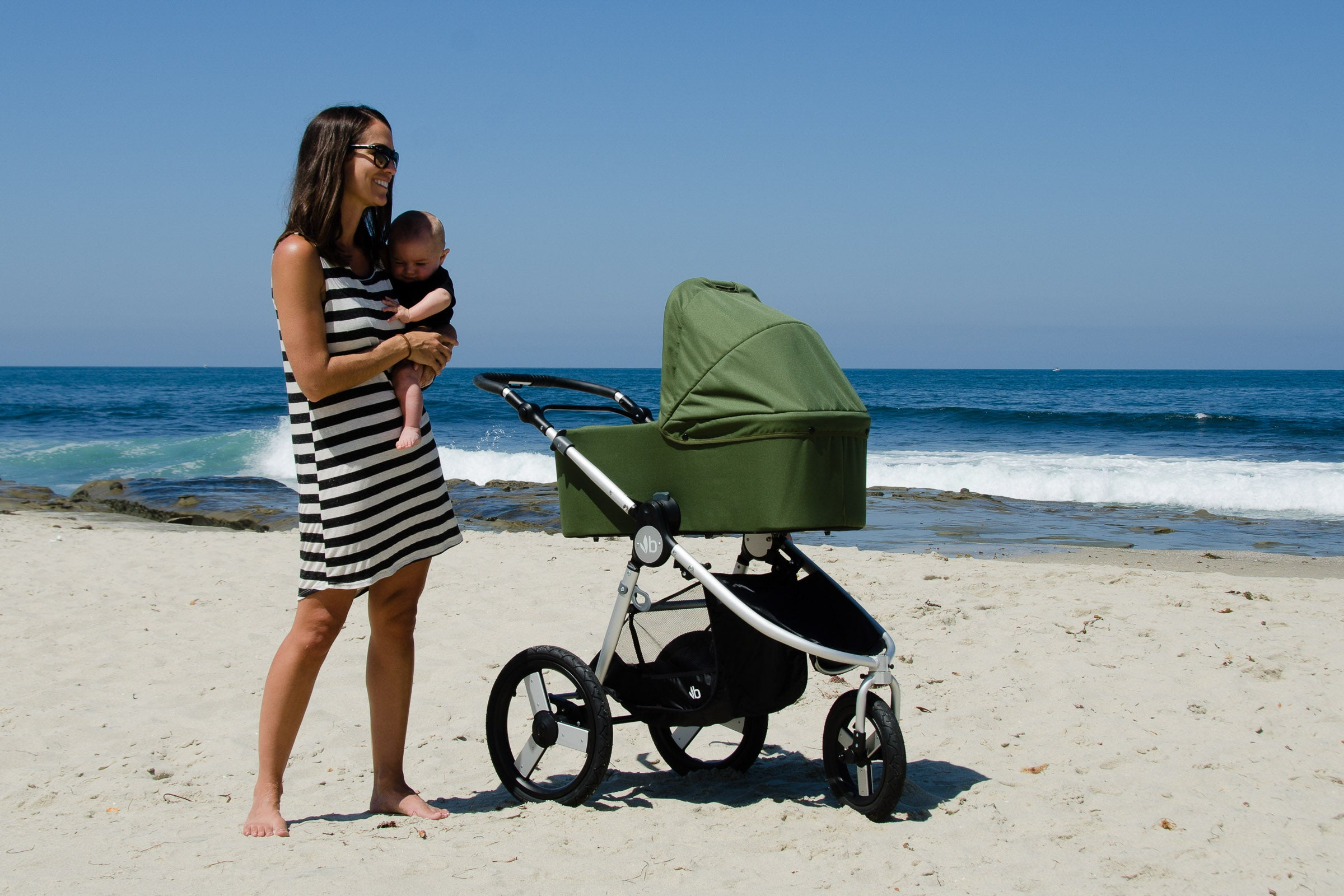 Bumbleride Speed at Beach with Bassinet