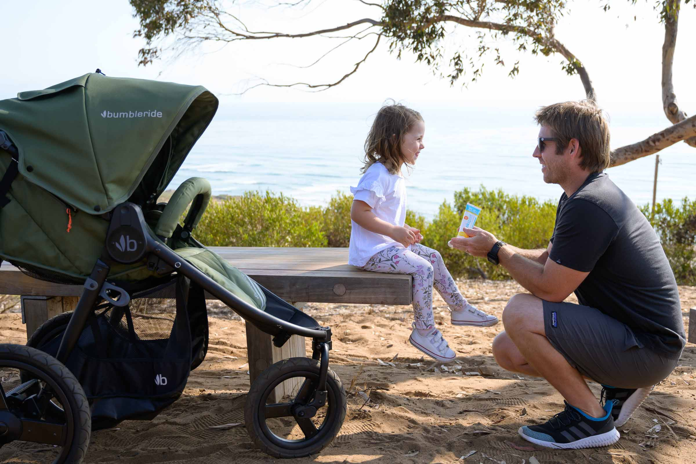 2021 Bumbleride Speed Jogging Stroller on dirt trail off road