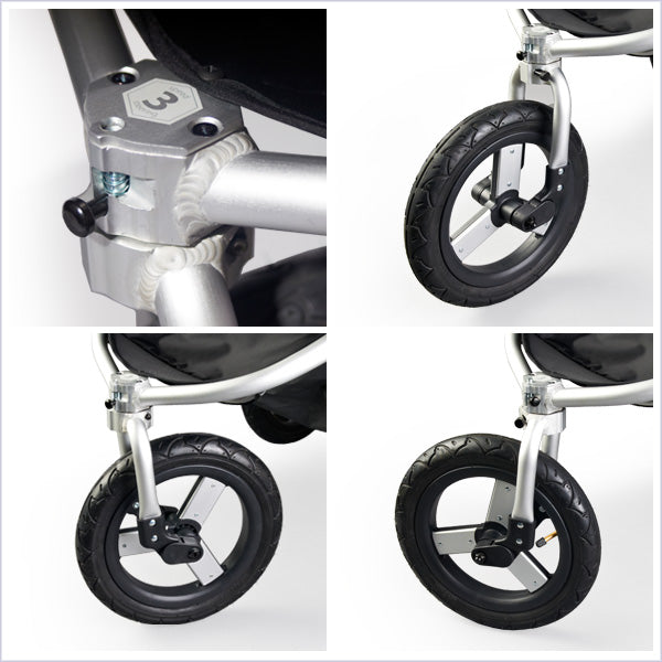 2018 Bumbleride Speed Jogging Stroller Speed 3 steering, only partial swivel in the industry