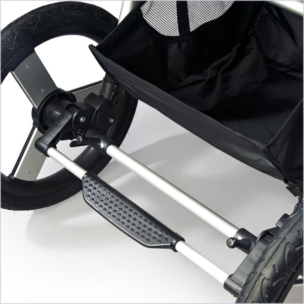 Flip flop friendly Speed Jogging Stroller parking brake