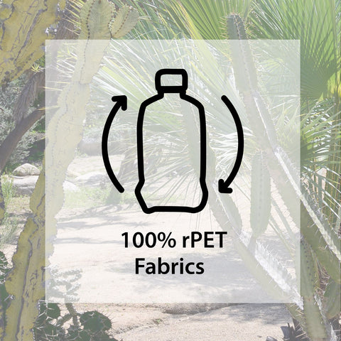 Recycled Water Bottle Icon with 100% RPET Fabrics