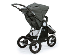 Bumbleride Indie All Terrain Stroller Dawn Grey Mint and  Dawn Grey Coral Rear View