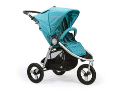 Bumbleride Indie All Terrain Stroller in Tourmaline Wave - Profile View