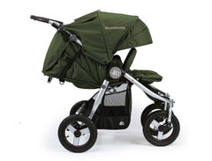Bumbleride Indie Twin Double Stroller Camp Green Profile View