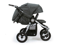 Bumbleride Indie Twin Double Stroller Dawn Grey Coral Profile View
