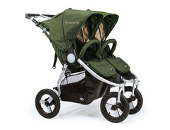2018 Bumbleride Indie Twin Double Stroller - Camp Green