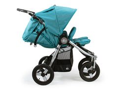 Bumbleride Indie Twin Double Stroller Tourmaline Wave Profile View