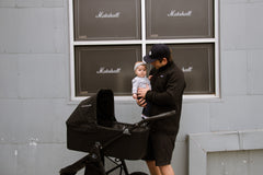 Bumbleride Speed in Matte Black with Bassinet Global