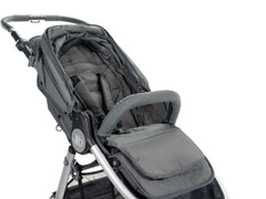 2020 Bumbleride Seat Liner in Dawn Grey On Stroller - Canopy Open - Global