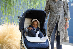 Organic Cotton Stroller Liner on Bumbleride Indie in Maritime Blue 2