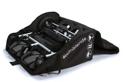 Bumbleride Indie Twin Travel Bag - Open with Indie Twin inside