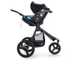 2020 Bumbleride Speed Jogging Stroller with Matte Black frame with Indie / Speed Car Seat Adapter with Clek Liing Attached (fabric removal optional) - Global