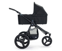 2020 Bumbleride Speed Jogging Stroller with Matte Black frame with Era/Indie/Speed Bassinet in Matte Black attached (fabric removal optional). - Global
