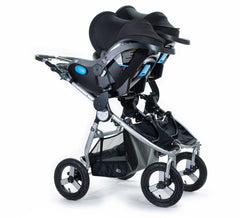 2020 Bumbleride Indie Twin Double Stroller with Indie Twin Car Seat Adapter SET - Dual Clek Liing Car Seats Attached (fabric removal optional).- Global