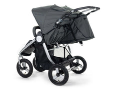 2020 Bumbleride Indie Twin Double Stroller in Dawn Grey - Back
