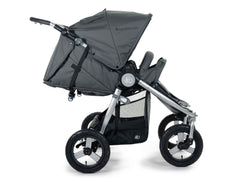 2020 Bumbleride Indie Twin Double Stroller in Dawn Grey - Infant Mode