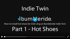 How To Install Clek Liing Car Seat on Bumbleride Indie Twin Double Stroller Video - Part 1 Installing Hot Shoes