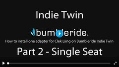 How To Install Clek Liing Car Seat on Bumbleride Indie Twin Double Stroller Video - Part 2 Single Adapter