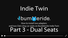 How To Install Clek Liing Car Seat on Bumbleride Indie Twin Double Stroller Video - Part 2 Installing Seat 2 of 2 - Upper