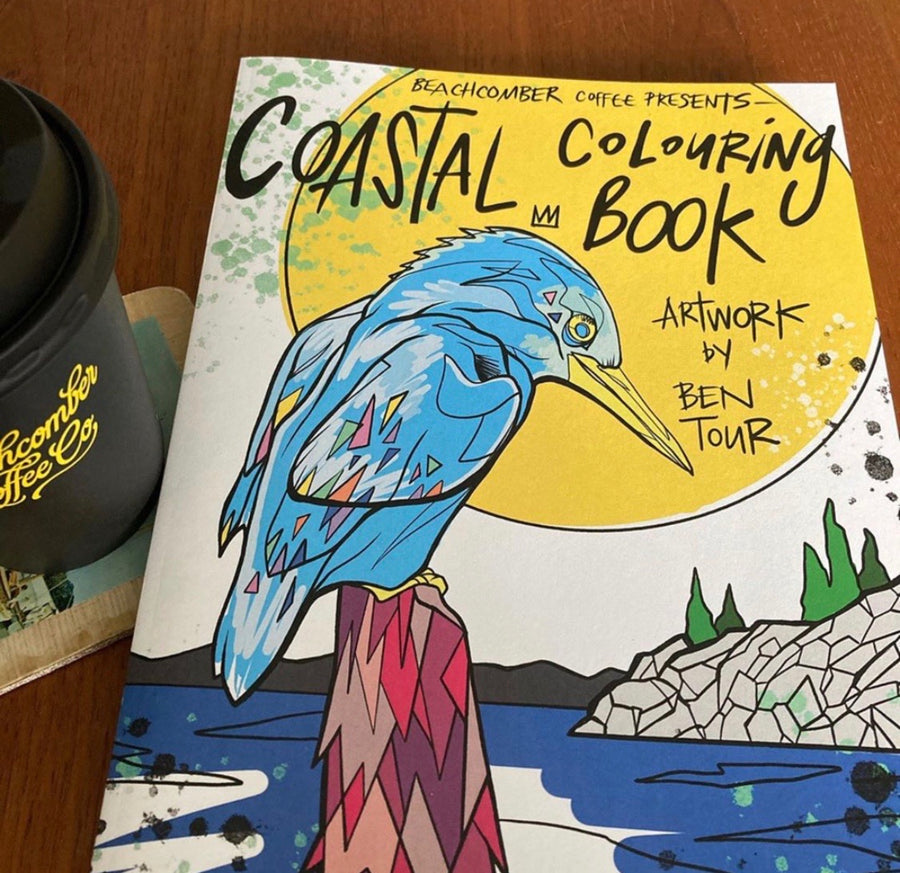 Coastal Colouring Book