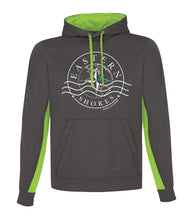 Load image into Gallery viewer, Hoodie - Athletic Color Block- White Logo - Eastern Shores Apparel & Accessories