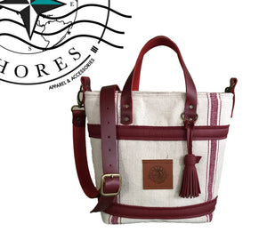 Atelier Collection The Bucket Handbag - Stripes - Eastern Shores Apparel & Accessories