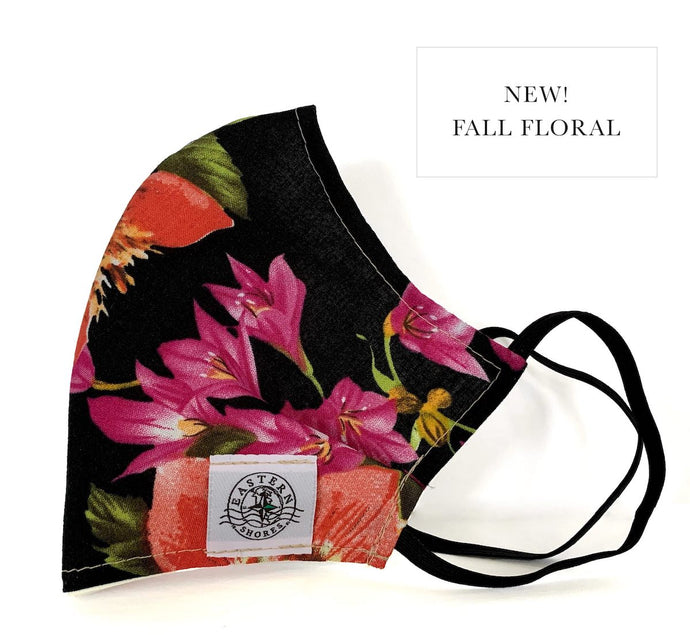 Contoured Face Mask - Fall Floral