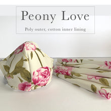Fashionable Face Mask - Contoured fit in Peony Love - Polyester outer shell made in Canada