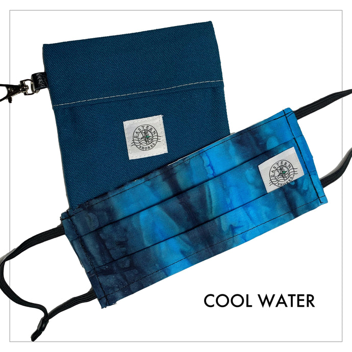 Pleated Face Mask - Cool Water