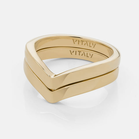 Vitaly Cell Ring, Gold