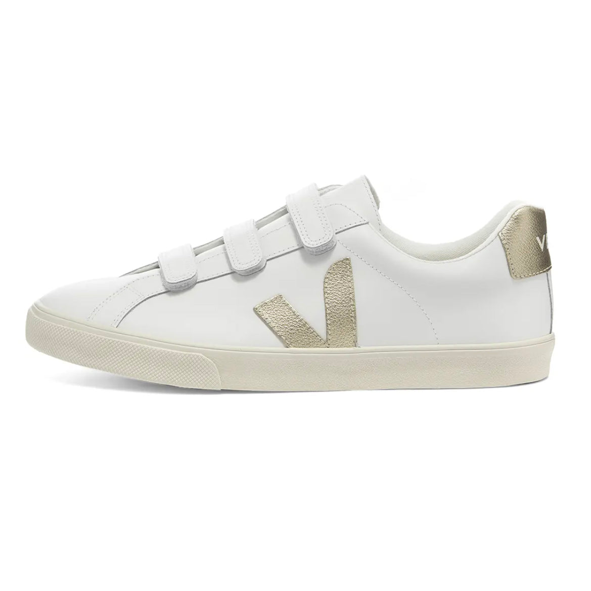 Veja Women's Esplar 3-Lock Leather, Extra White / Gold
