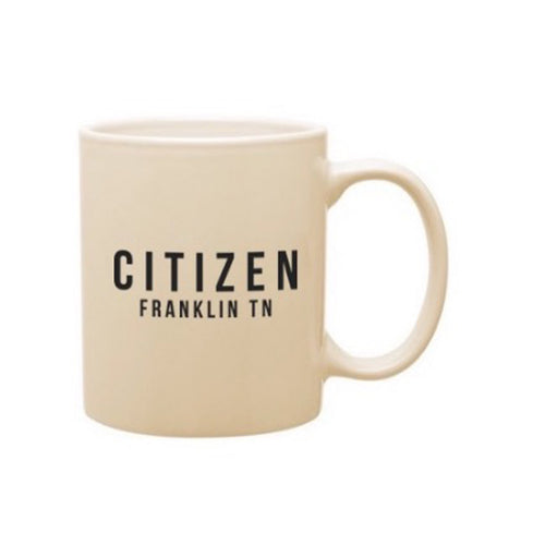 Citizen Mug, Ivory/Black