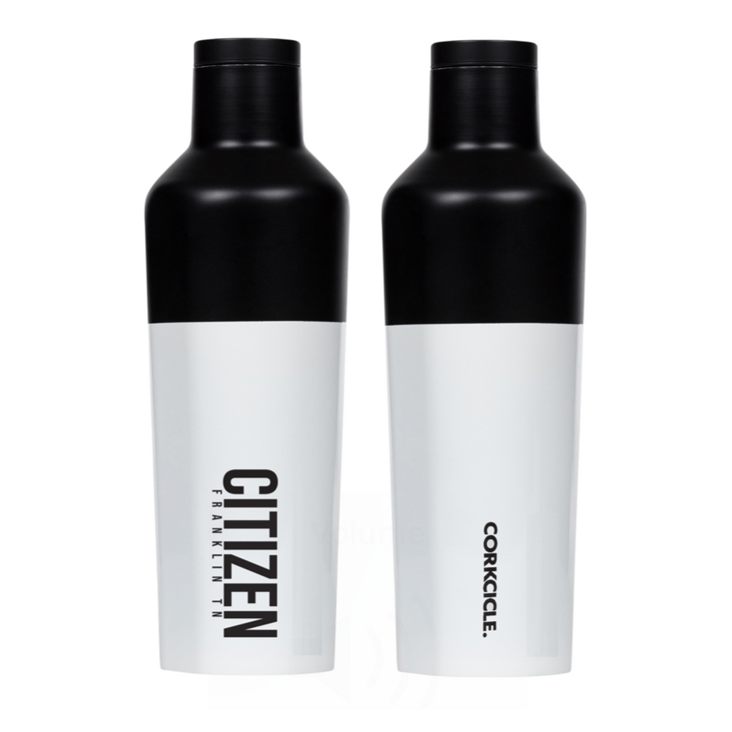 CITIZEN, Corkcicle, 16oz Canteen, White/Black