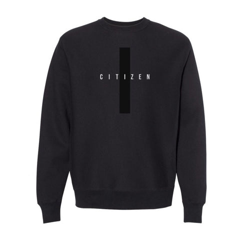 CITIZEN Embroidered Crewneck, Black