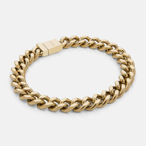 Vitaly Men's Kickback Bracelet, Gold Finish (Stainless Steel)