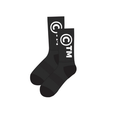 Chinatown Market CTM Socks, Black One Size