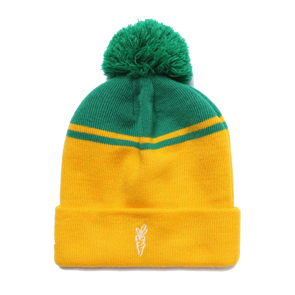"Carrots ""C"" Logo Beanie, Yellow/Green"