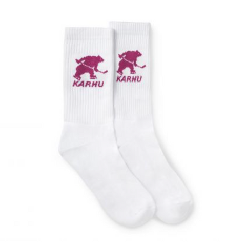 Karhu Hockey Bear Sock, White/Fuchsia