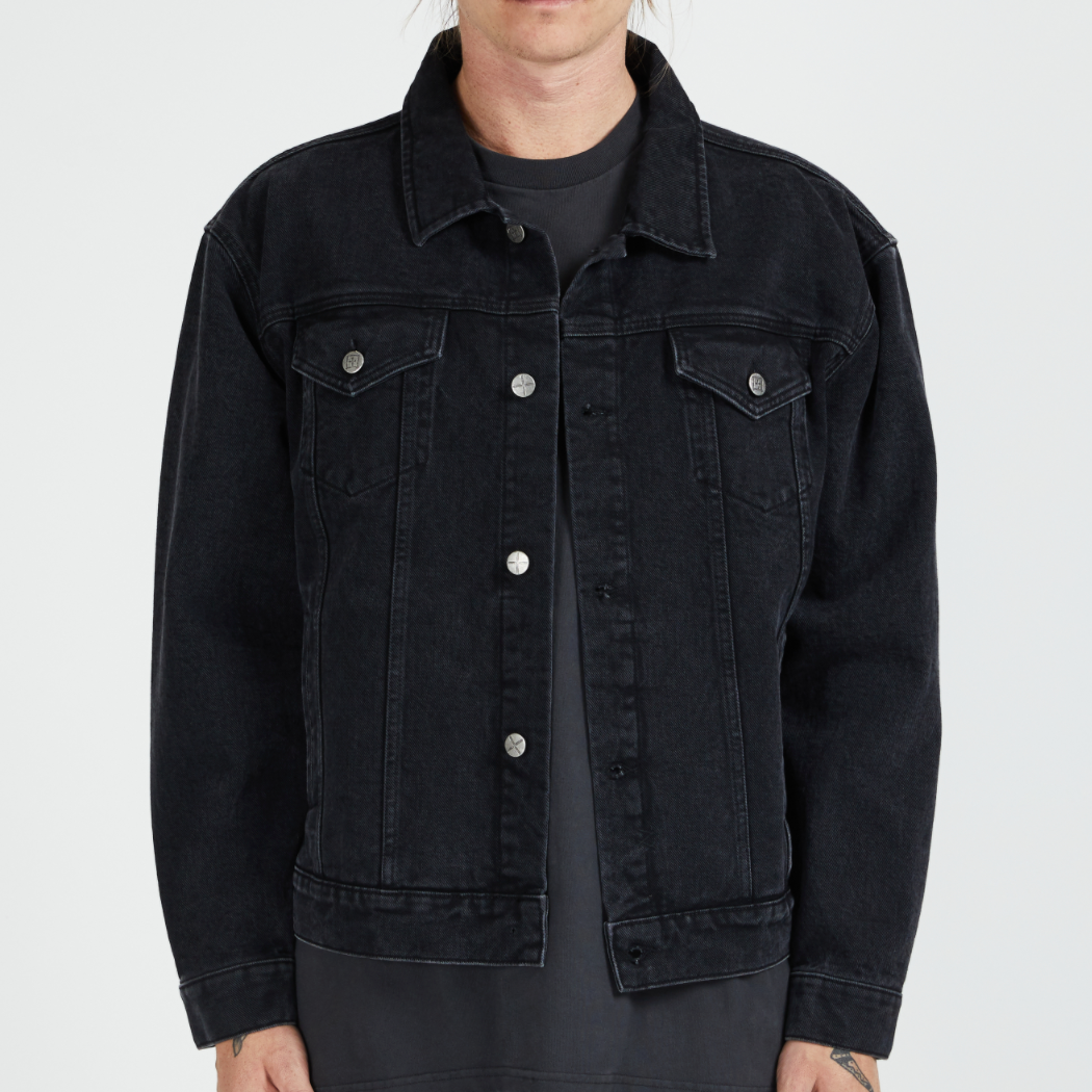 Ksubi Oh G Denim Jacket, Burnout Black