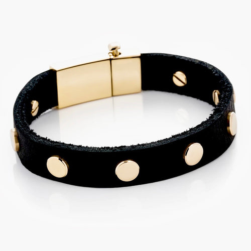 Vitaly Men's Buzzsaw Bracelet, Black/Gold